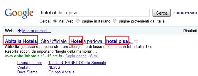 C 39 il title sul sito della tua struttura ricettiva for Abitalia hotels