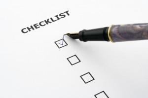 checklist del sito web