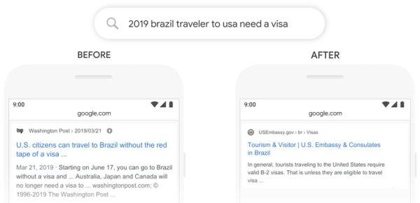 Esempio del funzionamento di Google BERT